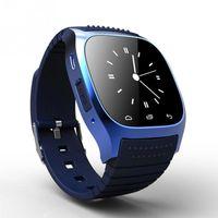 M26 relógio inteligente Waterproof LED Bluetooth Alitmeter Music Player pedômetro Smartwatch Para Android Iphone inteligente Pulseira Better Than DZ09 U8