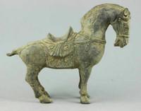 Recolha de bronze artesanal estátuas de cavalos escultura velhas e frete grátis