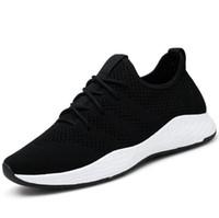 Venda Hot Summer nova tendência dos homens Leve Voar tecido respirável sapatos casuais Esportes Estudante sapatos de grande porte correndo com Box