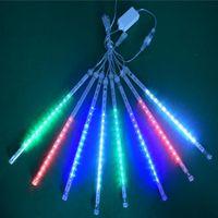Meteor duş yağmur tüpler LED Noel perdeleri ışıkları parti bahçe Noel Noel süslemeleri için ağacı AC110-220V CRESTECH