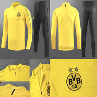 2018 19 Borussia Dortmund tracksuit Jacket Set Men Kit long ...