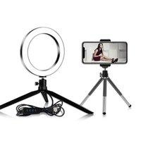 Fotoğrafçılık Dim Led Selfie Yüzük Işık Youtube Video Canlı 3500-5500 K Fotoğraf Stüdyosu Işık Telefon Tutucu Ile USB Fiş Tripod