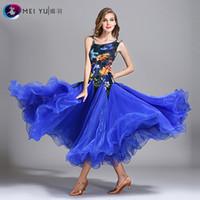Bühnenabnutzung 2021 Lady Ballsaal Tanzkleid Lange Weibliche Moderne Tanzanzug National Standard Kostüm My793
