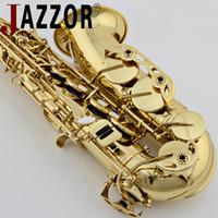 JAZZOR المهنية ألتو ساكسفون JBAS-200 E الذهب ورنيش النحاس أدوات مسطحة مع ساكسفون الناطقة