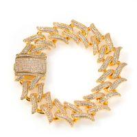 20mm redondo cubano miami corrente pulseira homens hip hop 3a zirconia cúbica bling gelado fora cubano link corrente pulseira pulseira jóias