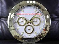 10 estilo reloj de pared de alta calidad 34 cm x 5 cm 2 kg de acero inoxidable de acero de cuarzo azul luminiscente azul cosmografía 116508 relojes reloj
