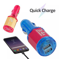 Nouvelle arrivée à puce à circuit intégré de commande vocale LED double port USB 5V 3.4A rapide charge rapide Chargeur allume-cigare USB universel pour Samsung Google Android GPS