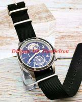 2019 новый 1858 Япония кварцевый механизм хронограф мужские часы серебро корпус из нержавеющей стали нейлон ремешок мужские наручные часы высокого качества U0117837