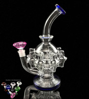 GlassART Vortex verre Bong recycleur huile Rig cire Herb tabac à pipe eau Heady Klein Bangs Dab Rigs Pipes Bowl Quartz Banger Perc