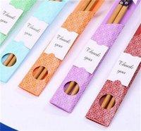 Bambus Stäbchen Praktische Chopstick Natur Verholzung der neuen Art-Ess-Stäbchen Personalisierte Hochzeit Bevorzugungen Werbegeschenke Geschenk Heißer Verkaufs 0 8zl p1