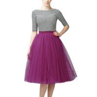 Jupes multicolores Femmes Mode Femme Vestidos Haute Qualité Plissée Gauze Longueur du genou Adulte Tutu Dancing Jupe