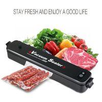 Elektro-Vakuum-Verpackung Nahrungsmitteldichtungs-Pack-Sealer Paket-Beutel-Maschine Haushaltsgeräte mit 15pcs Taschen US / UK / EU-Steckern