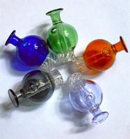 흡연 컬러 유리 거품 Dab cyclone riptide 회전 carb 모자 29mm OD for flat top quartz banger 손톱 물 봉포 파이프