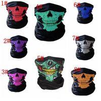 Açık Sorunsuz Sihirli Kafatası Eşarp Yüz atkısı Açık Yüz Parti Maskesi IB634 Isınma Eşarp Bisiklet Binme Maskeler Maske