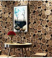 Tapete 3d Wasserdicht verdicken faux Holz-Tapete für Wände PVC-Vinyl Papier Hotel Library Schlafzimmer Wohnzimmer