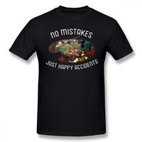 Bob Ross T Shirt BOB ROSS NO MISTAKES HAPPY ACCIDENTS T- Shir...