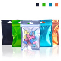8. 5*13cm One side clear colored Resealable Zip Mylar Bag Alu...