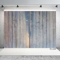 parete di legno sottile striscia vertic vinile sfondo sfondo Ritratto di servizio fotografico 7X5ft tessuto di vinile per il bambino sfondo fotofono
