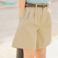 Inman 2020 Yaz Yeni Varış Tatlı Kız Artsy Gevşek Stil Fit Şekli Kadın Kısa Pantolon