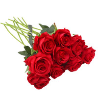 Artificial Rose Flowers Silk Flower Fake Rose Bouquets Arran...