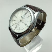 Marka Lüks Ünlü Erkekler Spor Saatler İş erkek Izle Erkek Saat Moda Kuvars Deri İzle Relogio Masculino Reloj Hombre Montre