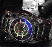 2020 CRRJU Men Chronograph Sport Quarzo Sport Orologi da polso da regalo di moda maschile con cinturino in pelle orologio militare Erkek Saatleri