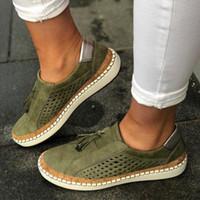جديد الموسم المرأة مصمم أحذية قماشية شبكة متعطل حذاء فاخر موضة تنفس منصة المدربين الانزلاق على حذاء كبير الحجم 35-43