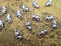 150pcs- mini fare askı, Antik Tibet gümüş mini fare Charms kolye 12x7mm