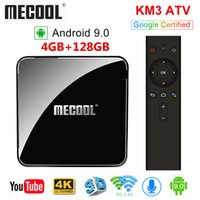 MECOOL KM3 ATV 4GB RAM 128GB Androidtv Google معتمد أندرويد 9.0 TV Box Amlogic S905X2 4K Dual Wifi BT4.0 Set Top Box KM9 Pro
