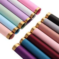 Flor del color sólido papel de embalaje de regalo del ramo de la envoltura de papel de embalaje de Suministros de floristería Flores Papel de envolver 60 13 * 60cm Color Seleccione