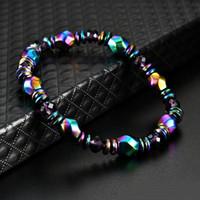 Thérapie Magnétique Bracelets Hématite Pierre Perles Pierre De Guérison Bracelet Énergie Bracelet Brin Déclaration Bracelet Pour Femmes Hommes