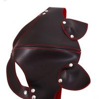 Fábrica BDSM olho máscara de couro venda preliminares flertar adulto jogo mascarar brinquedos eróticos sexo BDSM, máscara fetish sex shop para casais