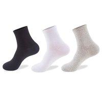1 par nueva manera caliente unisex de poliéster lindo calcetines de los hombres sólidos regalos del tobillo del color del calcetín hombre Meias Para Hombres colores aleatorios