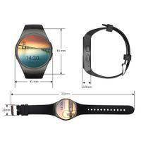 KW18 Smart Watch Vollbildschirm Abgerundete Bluetooth Reloj Inteligente Smart-Armband mit SIM-Karten-Slot-Puls-Monitor Anti verloren Armbanduhr
