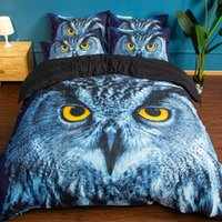 3D Owl Bedding Set Cool Nighthawk Pattern Printed Duvet Cove...