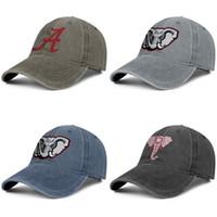 Alabama Elephant logo mens neri e delle donne di Trucker Cap denim fresco di design sportiva su ordinazione epoca carino eleganti cappelli originali Alabama