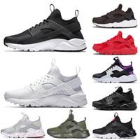 Nike Shoes  الكلاسيكي الثلاثي أبيض أسود رمادي الذهب الأحمر الرجال النساء Huarache Huaraches احذية رياضية الجري الحجم -5 في الهواء الطلق أحذية