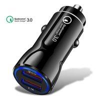 مصغرة USB الإضافية 3.1a الشحن السريع 3.0 الشحن السريع المزدوج USB شاحن سيارة لفون 8 X XS سيارة شاحن الهاتف لهواوي P20 لايت