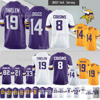 Minnesota Jersey Viking 19 Adam Thielen 8 Cousins ​​stefon 14 maillots Diggs Anthony 99 Hunter 82 Rudolph 7 Wright NCAA 55 Smith 2019