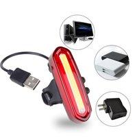 دراجة أضواء USB قابلة لإعادة الشحن ضوء دراجة الخلفية الدراجات LED الضوء الخلفي للماء MTB الطريق دراجة الذيل ضوء مصباح الرجوع للدراجات