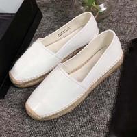 Zapatos de lujo de diseño de las mujeres zapatos casuales clásicas de la vendimia de la plataforma de las alpargatas holgazán del cuero auténtico niñas planos de la manera zapatos inferiores a pie