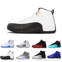 online store 2daab 1e53e Lo nuevo XII 12 Burdeos Gris oscuro para hombre Zapatos de baloncesto  Deportes 12s Taxi Juego