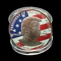 دونالد ترامب الكلام التذكارية عملة الأمريكية الرئيس ترامب 2020 عملات مجموعة الحرف ترامب الرمزية حافظ على عملات أمريكا العظمى DBC VT1102