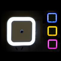 Bebek Odası Yatak Odası Koridor Lambası İçin Kablosuz Algılayıcı Gece aydınlatması LED AB ABD Tak Mini Kare Night Lights