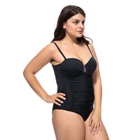 Ladies Enlarged solid colour swimsuit with steel bracket and...