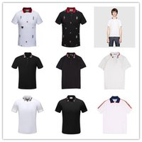 Herren Polo-T-Shirts High Street Stickerei Garter Snakes Little Bee Printing Bekleidung Herrenmode Polo-Shirt 3XL