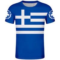 GRIECHENLAND männlich T-Shirt DIY frei nach Maß Name Zahl grc T-Shirt Nation Flagge gr Land griechisch Logos drucken Foto Wort Kleidung