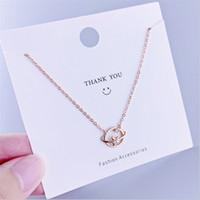 925 Sterling Silver Star Planet Colgante Collar Collar Rosa Oro Clavícula Cadena para Mujeres Chicas Gargantillas Collares Joyería de fiesta Regalos