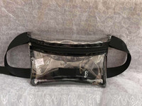 Pink Letter Fanny Pack Clear Waist Bag Transparent Phone Pur...