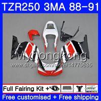 바디 스톡 블랙 핫 YAMAHA TZR250RR RS RR YPVS TZR250 88 89 90 91 244HM.5 TZR-250 TZR250 3MA TZR 250 1988 1989 1990 1991 페어링 키트